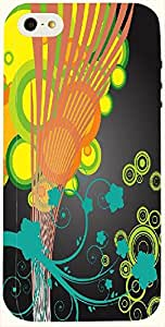 Wonderful multicolor printed protective REBEL mobile back cover for iPhone 5 D.No.N-T-1834-IP5