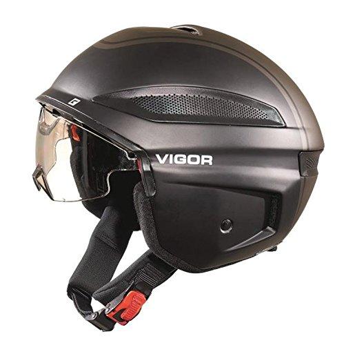 Cratoni Vigor Fahrradhelm, Black, XL (60-61 cm) (Dickes Haar Fein)