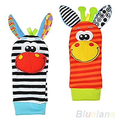 Lovely Infant Baby Foot Socks / Wristand Rattles Toys