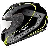 Römer Helmets Römer Integralhelm Frankfurt, Schwarz, grau, neon Dekor,  Größe L