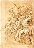 POSTERLOUNGE Impresión en madera 70 x 100 cm: Soldiers Destroying a Bridge de Peter Paul Rubens/Bridgeman Images
