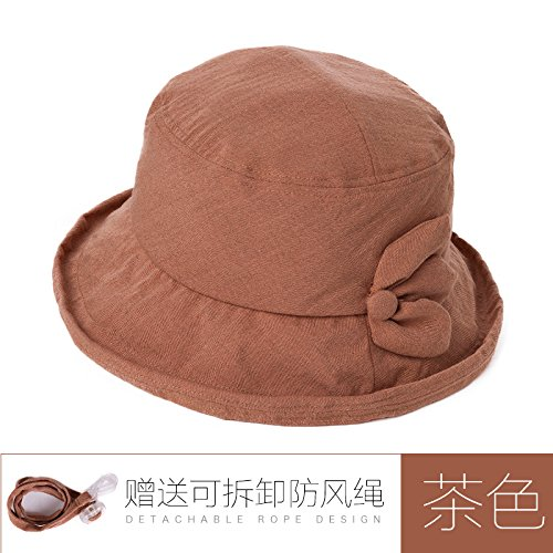 LLZTYM Female/Summer/Hat/Cap/Travel/Sun/Folding/Uv/Hat/Head/Hat/Gift D tea color