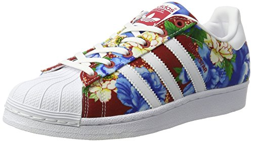 adidas Superstar W, Zapatillas para Mujer, Multicolor (Ftwwht/Ftwwht/Powred), 37 1/3 EU