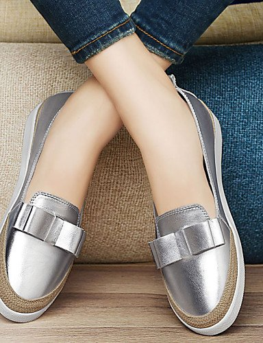 ZQ Damenschuhe - Halbschuhe - B¨¹ro / Kleid / L?ssig / Party & Festivit?t - Nappa Leather - Flacher Absatz - Komfort / Boot - Rosa / Silber silver-us8 / eu39 / uk6 / cn39
