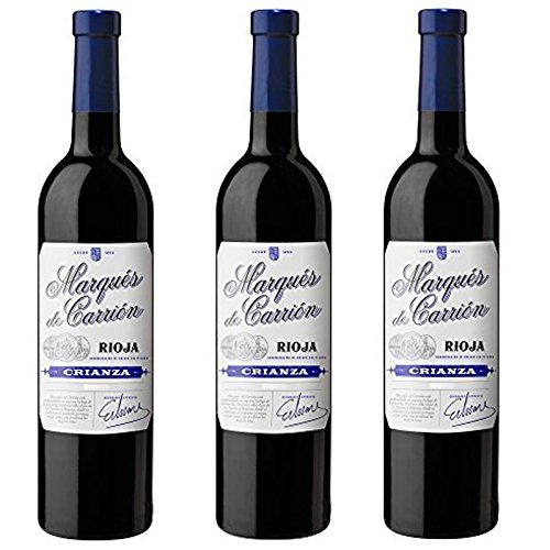 Marqués de Carrión Reserva D.O Rioja Vino Tinto - 3 Botellas x 750 ml - Total : 2250 ml