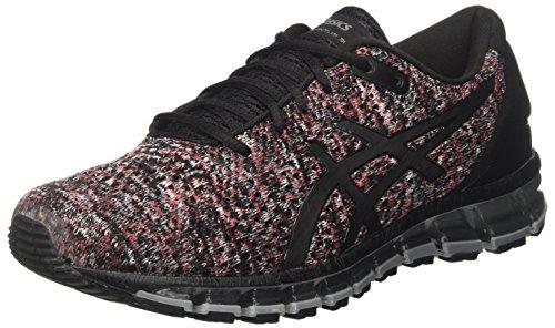 Asics Gel-Quantum 360 Knit 2, Zapatillas de Running para Hombre, Multicolor (Black/Classic Red/Stone Grey 9023), 40.5 EU