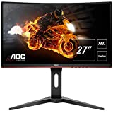AOC Gaming C27G1 68,6 cm (27 tum) böjd skärm (FHD, HDMI, 1 ms, DisplayPort, 144 Hz, 1 920 x 1 080 cm?Free-Sync) svart