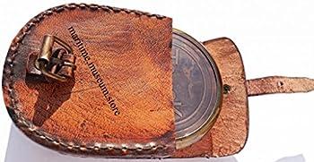 7,6Cm Steampunk T Cook Große Sammlerstück Messing Kompass Mit Leder Fall–Mit Robert Frost Gedicht Kompass. C-3016 4