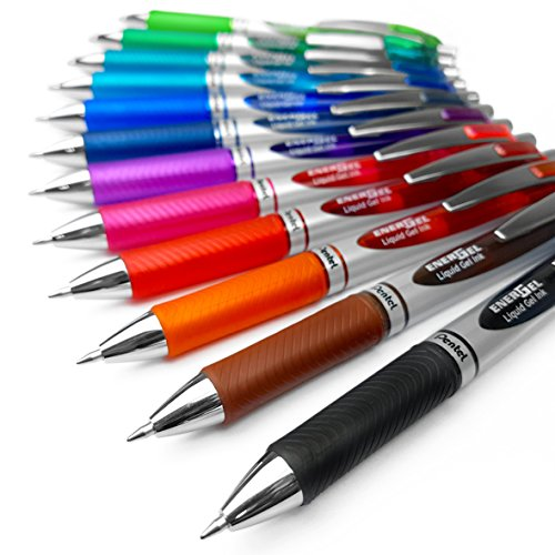 Pentel Energel XM BL77 (Druck-Gelschreiber, 0,7 mm, 12 Farben)