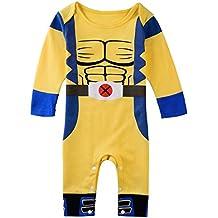 Wolverine X-Men de Boy para bebé Pelele de cómics de superhéroe fiesta disfraz/disfraz/disfraz de reproducción