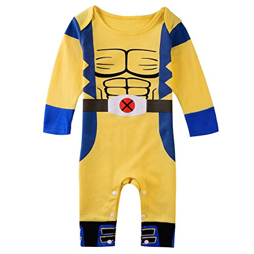 Inspired by Marvel Comics Wolverine Baby Jungen (0-24 MonInspired by Marvel Comics Wolverine Baby Jungen (0-24 Monate) Bekleidungsset gelb Yellow Blue 12-18 Monateate) Bekleidungsset gelb Yellow Blue 6-12 (Wolverine Comics Kostüm)