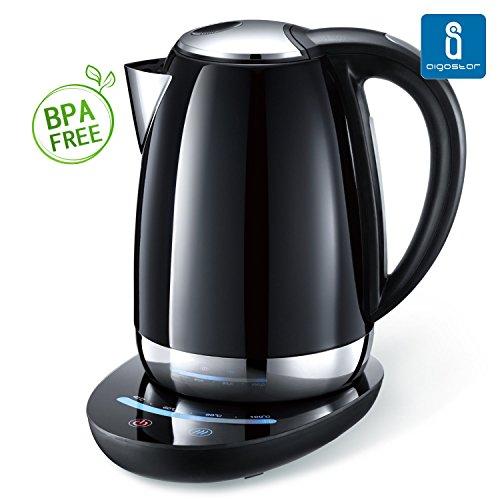 Aigostar Black Pearl 30IMV – Hervidor de agua modelo Premium con 7 niveles de temperatura