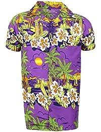 e5c1bbfc115f4 para Hombre Hawaiano Camisa Playa de Ciervo Hawaii Aloha Fiesta Vacaciones  de Verano ...
