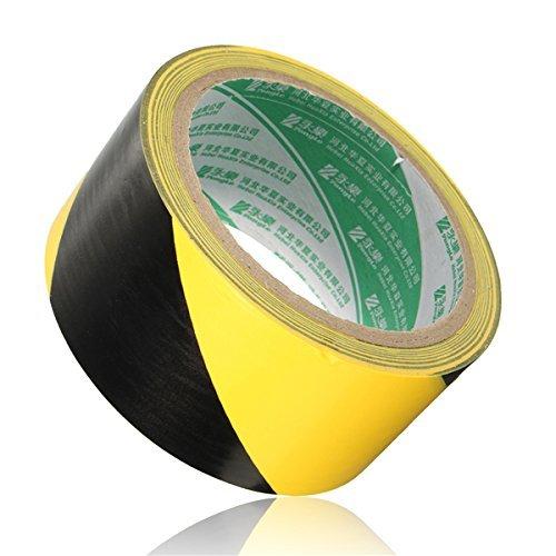 Generic 18m × 48mm PVC-Rolle selbstklebend Warnung Klebeband Deko Tape (schwarz gelb)