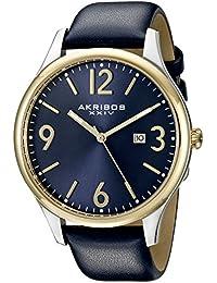 Akribos XXIV Reloj con movimiento cuarzo japonés  Azul 44 mm