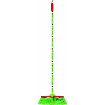 4766 Vigar - Scopa (130 cm), disegno di coccinelle, colore verde, bianco e rosso