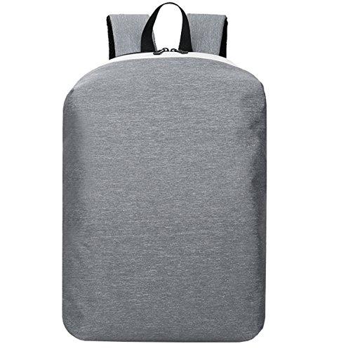 Super moderno 2017nuovo antifurto colorato in nylon zaino da scuola di ricarica USB zaino da escursionismo Cool sport zaino borsa per computer portatile, Uomo, Grey, L