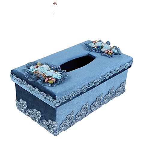 Casa di lusso con una scatola di fazzoletti/ carta velina creativa/ pastorale pizzo vassoio-B