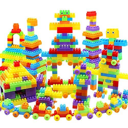 blocks 405 STÜCKE Kinder granulat kunststoffeinsatz bausteine Baby Puzzle Montage 3-6 Jahre alt Junge mädchen Kind Spielzeug Neue Macarons große Anti-Swallow-Aufbewahrungsbox -