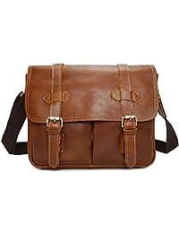 e75482994a46c Aszhdfihas Crossbody Reise Messenger Taschen Männer Messenger Schulter  Kamera Tasche Vintage Leder Aktentasche Crossbody Day…