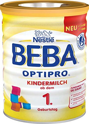 Nestlé BEBA OPTIPRO Kindermilch ab dem 1. Geburtstag, für eine altersgerechte Ernährung, Milchgetränk mit den Vitaminen A, C & D, 1er Pack, 1 x 800 g