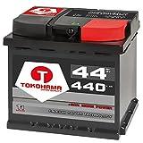 Tokohama T1-54440 Autobatterie 12V 44AH 440A/EN ersetzt 45Ah 46Ah 47Ah Starterbatterie