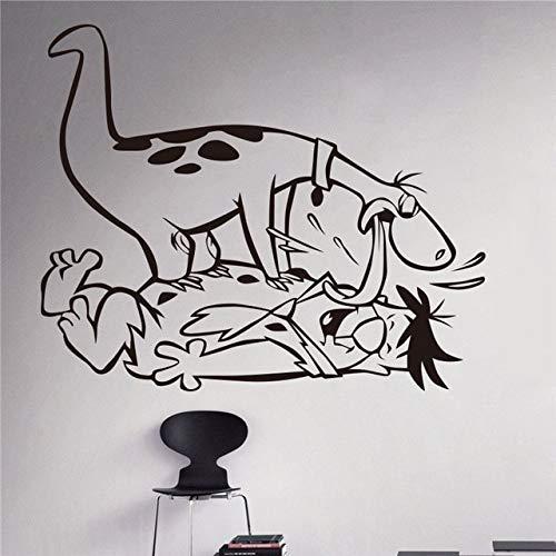 Stycars® Wall Sticker, New arrival Fred Decal Cartoon Flintstones Vinyl Nursery home decoration Kids Room living room [Size: 58x64 ()