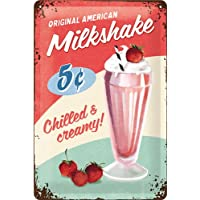 Nostalgic-art 22255 USA Milks Appendino, Targa, metallo, Multicolore,
