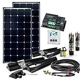 Offgridtec Wohnmobil Solaranlage SPR-200 220W 12V Solar Komplettsystem mit MPPT – DUAL Laderegler