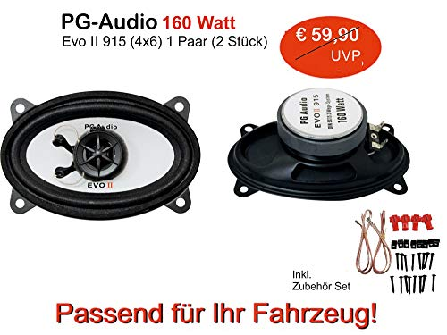 PG Audio Lautsprecher 915 (4x6 Zoll), passend für Daewoo Matiz SE, Ford Maverick, Lancia Thema