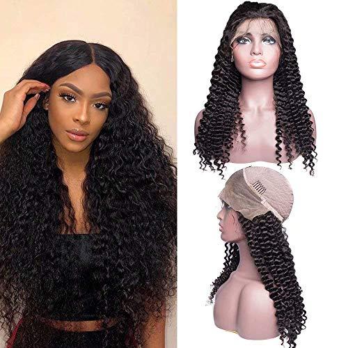 Curly Human Hair Wig Pre gestapelt Curly Lace Front Wig Human Hair mit Baby Hair 180% Dichte Glueless Deep Curly Wigs für Schwarze Frauen,18INCH