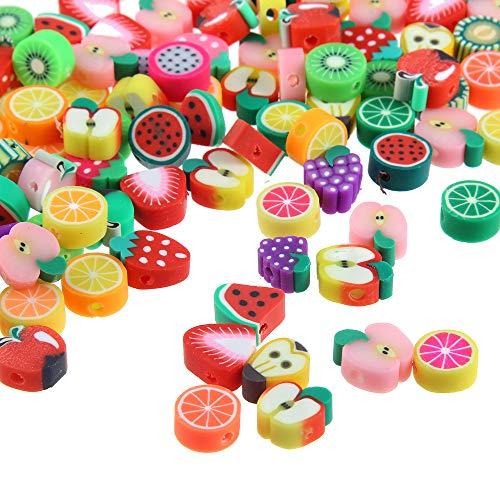 Ogquaton Obstperlen Diy Armband Perlen Runde Perlen Soft Pot Obstperlen Handwerk Zubehör 50 Stück - Polymer-perlen