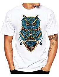Kinlene Camiseta Hombre,Camisetas Manga Corta Hombre Baratas Camisas Deportivas de Hombre Tops Blusa Camiseta