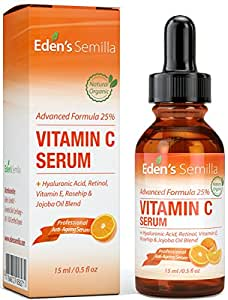 25 vitamin c serum 15ml eine leistungsstarke hochentwickelte formel hyalurons ure retinol. Black Bedroom Furniture Sets. Home Design Ideas