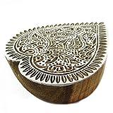Holz-Herz-Form Floral Design Block Textildruck auf Stoff Stamp Indien