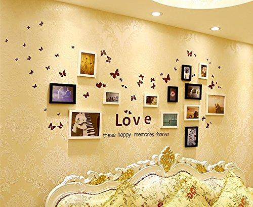Preisvergleich Produktbild Massivholz photo wall-box im Wohnzimmer, Schlafzimmer kreative Kombination Foto wall Picture Frame Wand Wand Wu Bai