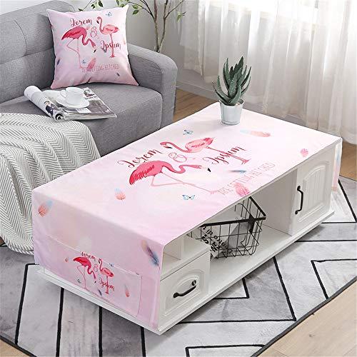 QWEASDZX Tischdecke Kleine frische Tischdecke aus Baumwolle und Leinen Wasserdicht Staubdicht Tischdecke Rechteckige Tischdecke Wiederverwendbares Tischset 60x170cm - Weiße Leinen Quadratische Tischdecke