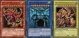 Götterkarten - Obelisk, Slifer, Ra - SET YGLD-DEG01 bis YGLD-DEG03 - Ultra Rare DE NM YU-GI-OH!