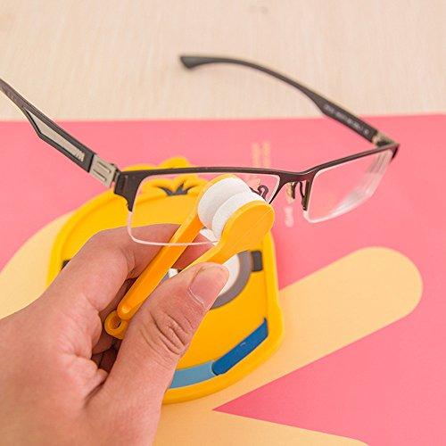 Preisvergleich Produktbild EQLEF® 4 PCS-Multifunktions tragbare Mikrofaser-Objektiv-Reinigungswischer für Glas-Brillen Sonnenbrillen