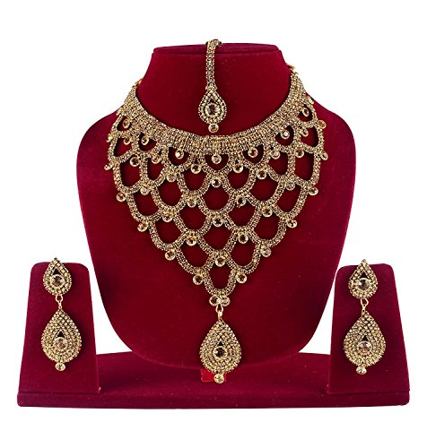 Baal Gold Plated Necklace Sets For Women Bridal Jewellery Sets For Wedding Girl Bridal Necklace Sets For Women...
