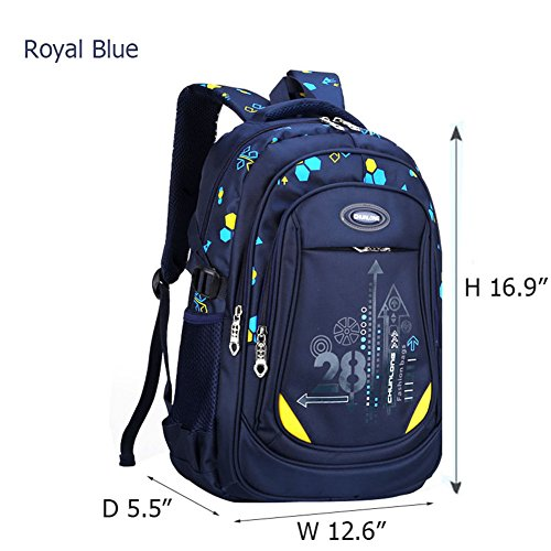 Da Jia Inc Multifunktionsrucksack Kinder-Rucksack Sport Rucksack Schulrucksack Schultertasche Rucksack Backpack Fahrradrucksäcke 12.6*5.5*16.9inch (Royal blau) Royal Blau