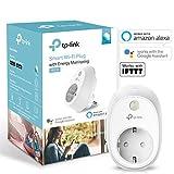 TP-Link Kasa Smart WLAN Steckdose (mit Stromverbrauchsaufzeichnung, kompatibel mit Amazon Alexa (Echo und Echo Dot, Google Home, IFTTT, Kein Hub erforderlich, Steuern Sie Ihre Geräte von überall aus))