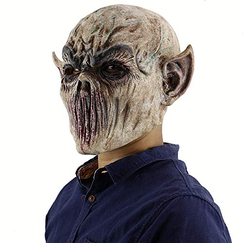 Monster Schnee Kostüm Kind - Halloween Bloody Scary Horror Maske, Erwachsenen Zombie Monster Vampire Maske, Latex Kostüm Party Vollkopf Cosplay Maske, Masquerade Requisiten