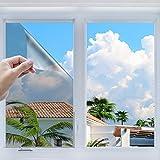 Keten Pellicola Riflettente per Finestre, Pellicola Adesiva Statica, Decorativa Utile al Controllo del Calore Colorazione Anti UV per del Vetro della Casa e dell'Ufficio(78.7'x 23.6')