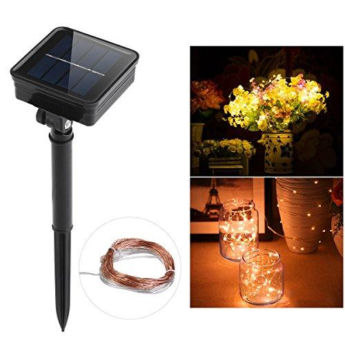 Preisvergleich Produktbild WINOMO String Weihnachtsbeleuchtung 100 LEDs Kupferdraht Sternenhimmel Lichterkette Solar angetrieben
