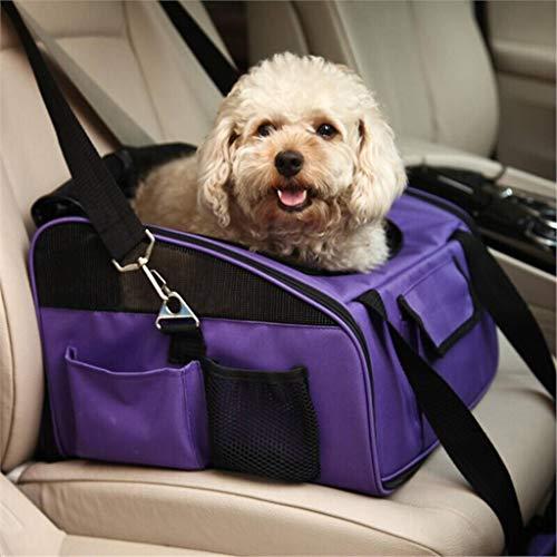 Pet Car Seat Cage -Folding Lightweight Haben Gute Belüftung, Sind Einfach Zu Tragen Und Können Es In Den Park Mitnehmen Oder Ins Auto Bringen Purple Fleece-lightweight-parka
