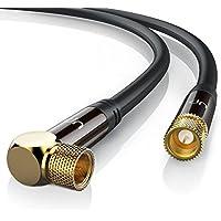 20,0m cable de antena / SAT | En ángulo 90° | Premium cable de satélite HDTV | cable coaxial | HDTV / Full HD | carcasa metálica / contactos dorados ...