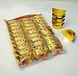 HNHT Lingote De Oro Chino/Yuan Bao, Lingote De Oro Plegable De Papel Chino Joss Para Adoración Ancestral (paquete De 30)