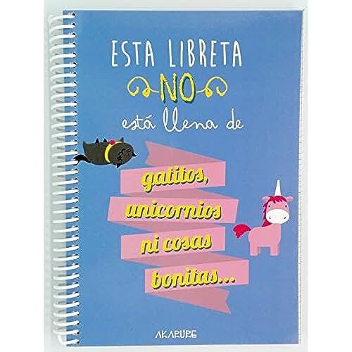 material para la escuela kawaii Libreta con frases Esta Libreta No Está Llena De Gatitos, Unicornios, Ni Cosas Bonitas A5