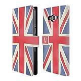 Head Case Designs Union Jack Das Beste Von London Brieftasche Handyhülle aus Leder für Samsung Galaxy Grand Prime
